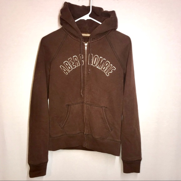 24d47642944 Abercrombie   Fitch Tops - Abercrombie   Fitch Graphic Hoodie Brown Large